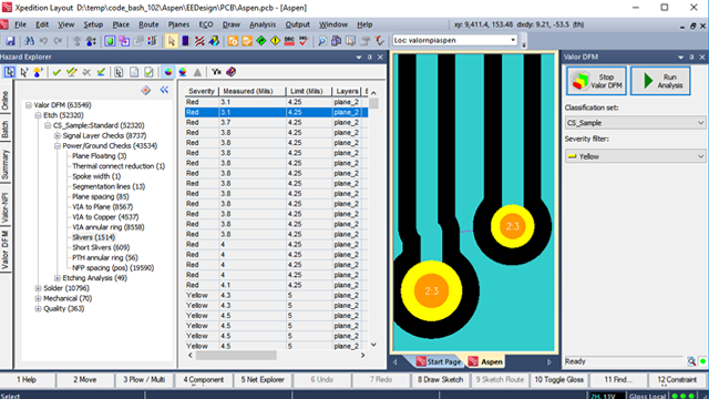 Manufacturability analysis