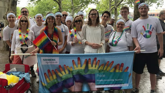 Siemens employees attending pride event for LGBTQ community