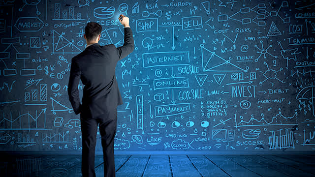 Man defining the strategy for Siemens business development