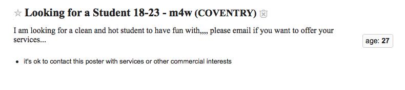 Coventry craigslist