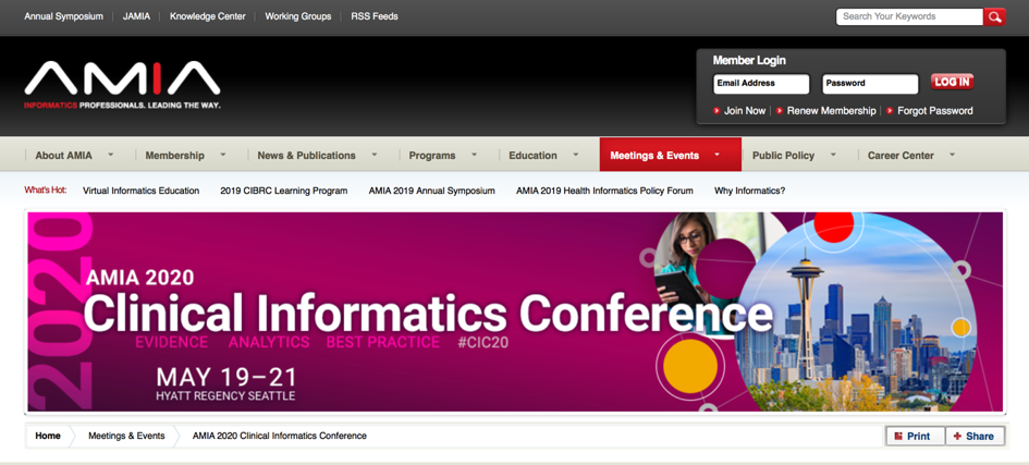 25. AMIA Clinical Informatics Conference