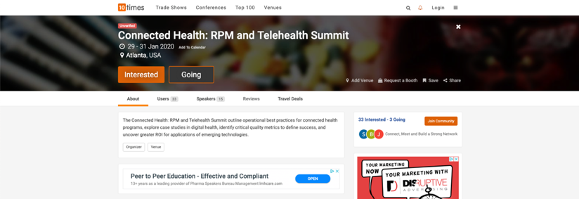 2. Connected Health- RPM and Telehealth Summit