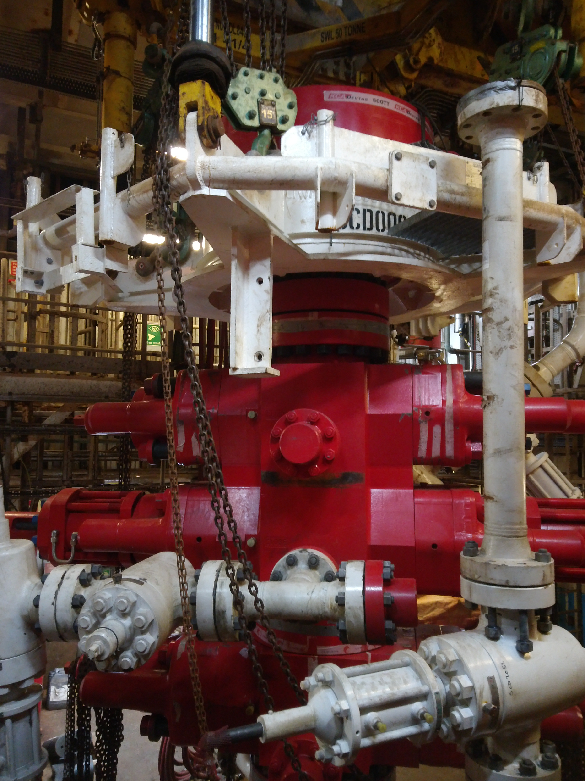 BOP valves and spools installed at site