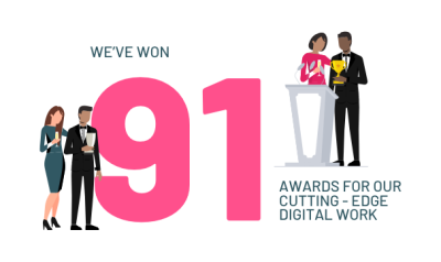 We've won 91 awards for our cutting-edge digital work
