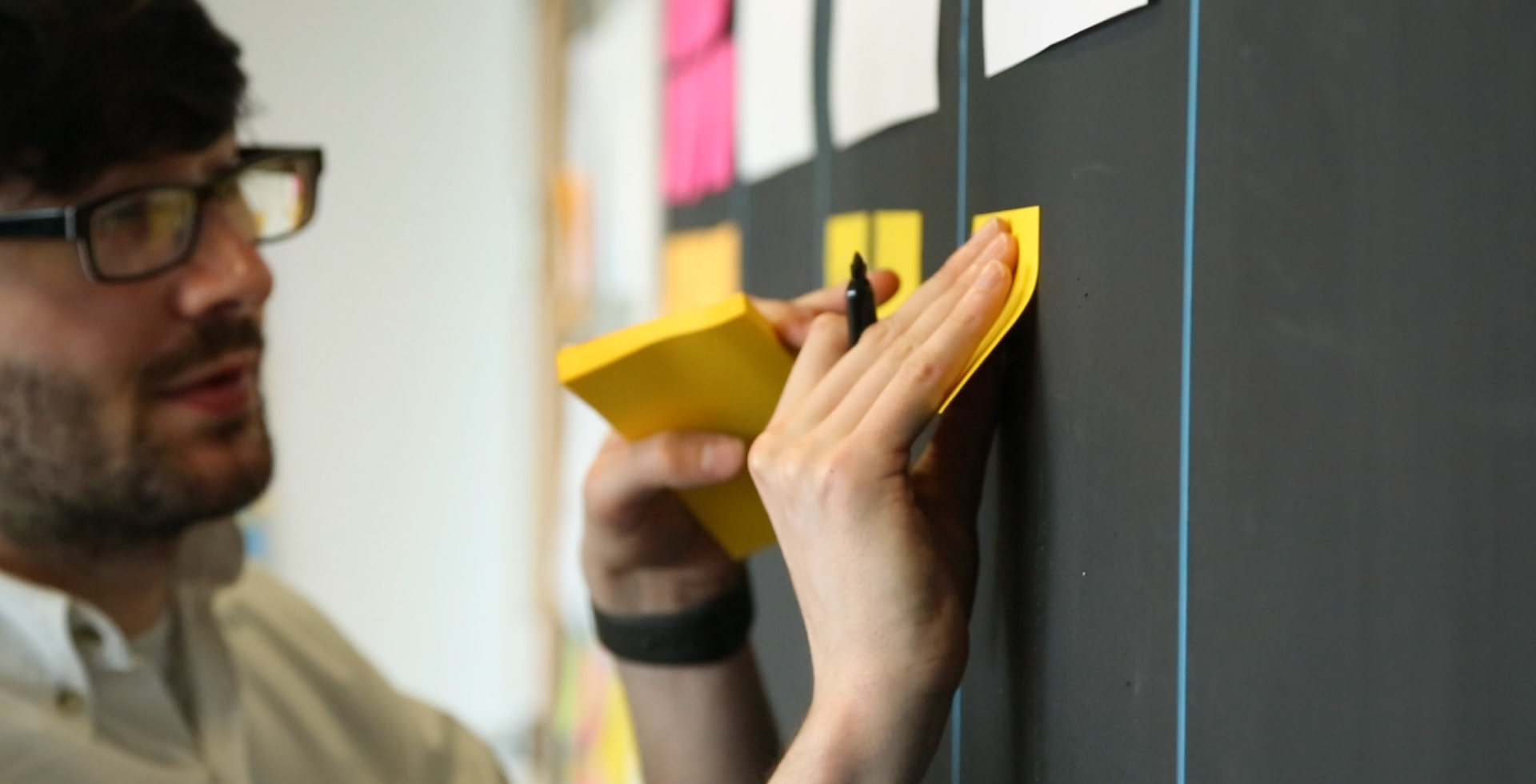 Development process using Post-it Notes