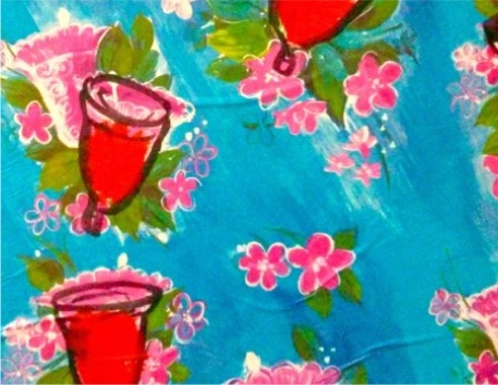 Watercolor of flowers and diva cups.