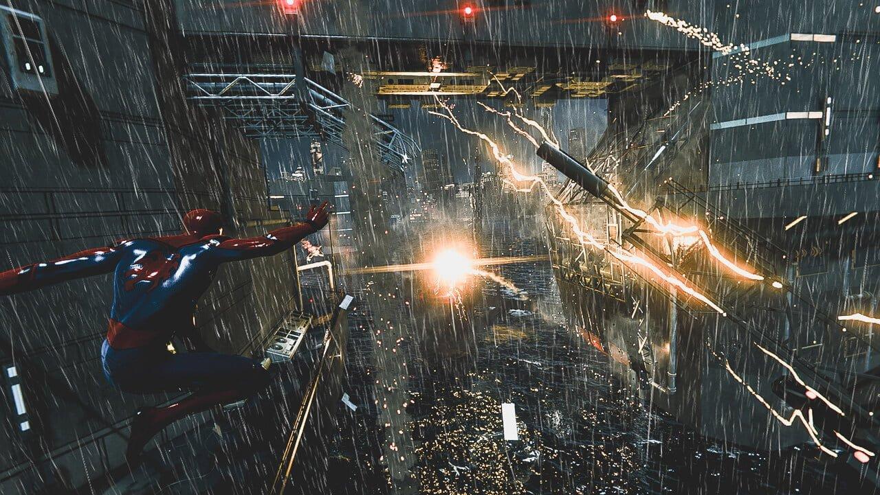 シニスター・シックス戦で躍動するスパイダーマン