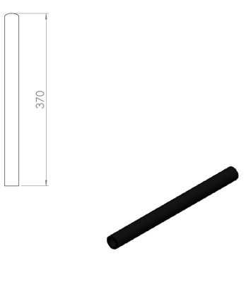 05260 – Rubber handle for Nordic Gym machines. 370mm – Nordic Gym