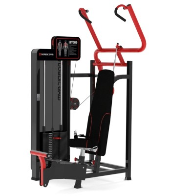 105FLR – ADDICTED by Nordic Gym. Articulated grips that follow the movement and maintain the angle of the wrist. Provides both movement and strength training at the same time. The long trajectory of movement allows the muscles to be stretched properly. Foot pedal is available to reach the handles more easily. Mainly trains the back muscles, the shoulder fixators and the flexor muscles of the arms. Follows the biomechanical strength curve of the back muscles. – Nordic Gym