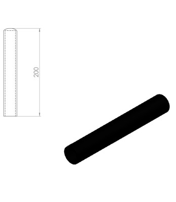 05259 – Rubber handle for Nordic Gym machines. 200mm – Nordic Gym