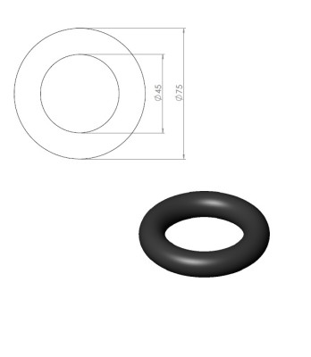05232 – Rubber ring for Nordic Gym weight stand. Fits Ø45mm holder. – Nordic Gym