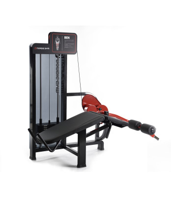 102FLR – ADDICTED by Nordic Gym. The unique rear grips that Nordic Gym has developed counteract lordosis in the lumbar spine at the same time as the muscle effect becomes greater. Wide cushions make the exercise comfortable. Mainly trains the hamstring muscles on the backs of the thighs. – Nordic Gym