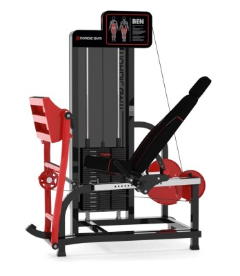 120FLR – ADDICTED by Nordic Gym. The market's most complete and compact leg press. Adjustable backrest in 4 positions and adjustable starting position in 15 positions make this machine very flexible in its use. The uniquely articulated foot plate that follows the movement of the ankle, helps you to train coordination and balance and that you always press with the entire surface of the foot. – Nordic Gym