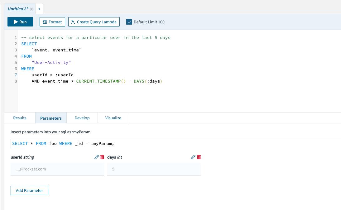 Query Lambdas: Increasing Developer Velocity for Application Development