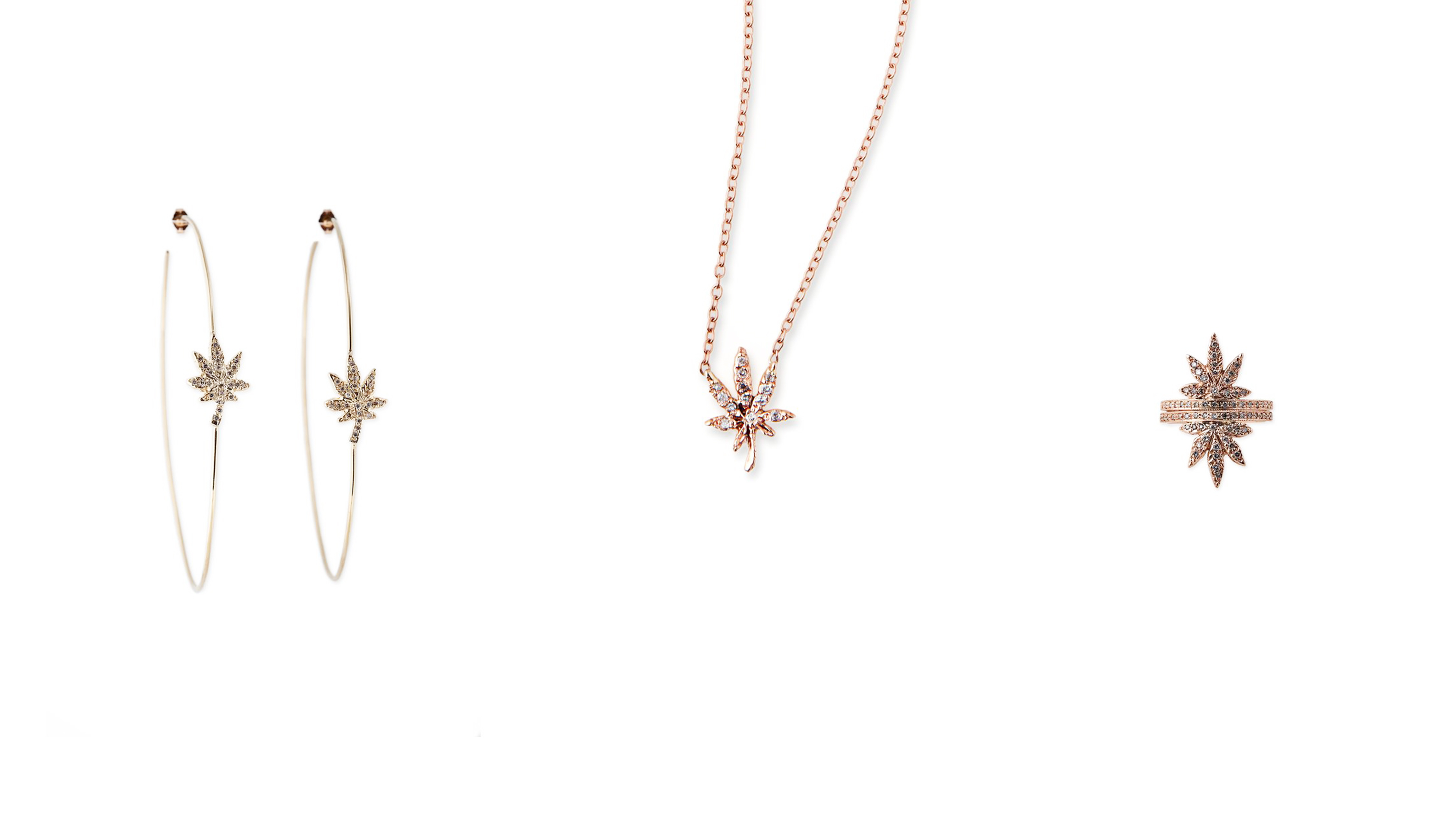 Why Jacquie Aiche Creates Diamond-Studded, Cannabis-Themed Bling