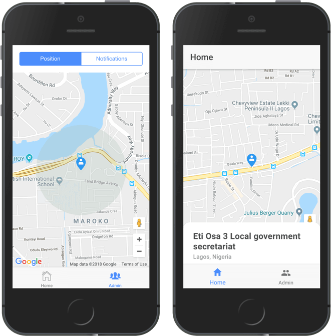 Implement geofencing in Ionic