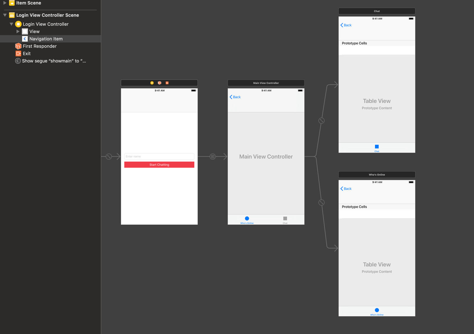 Creating an iOS app with user presence