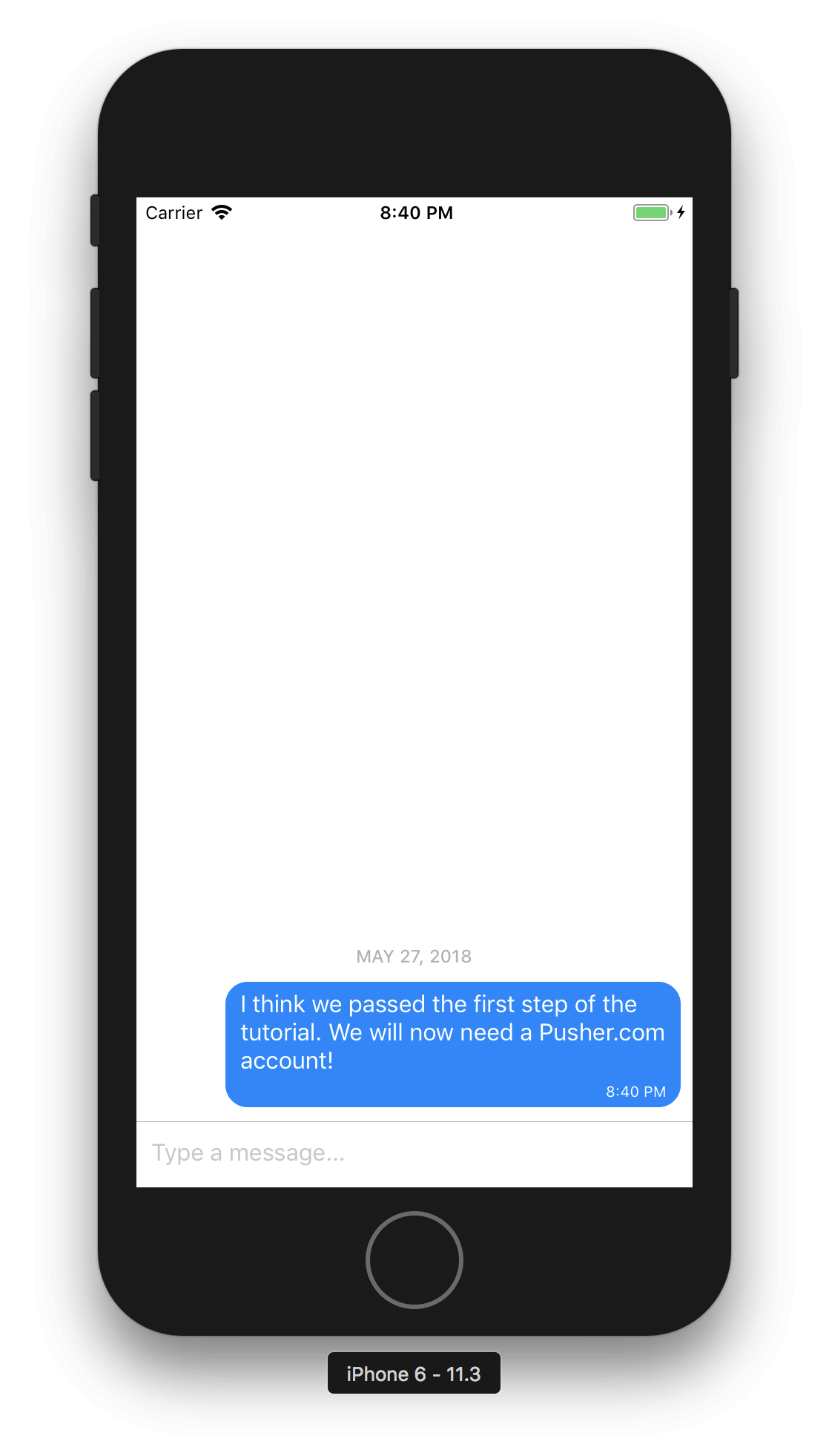 Build a chat app with React Native and Gifted Chat