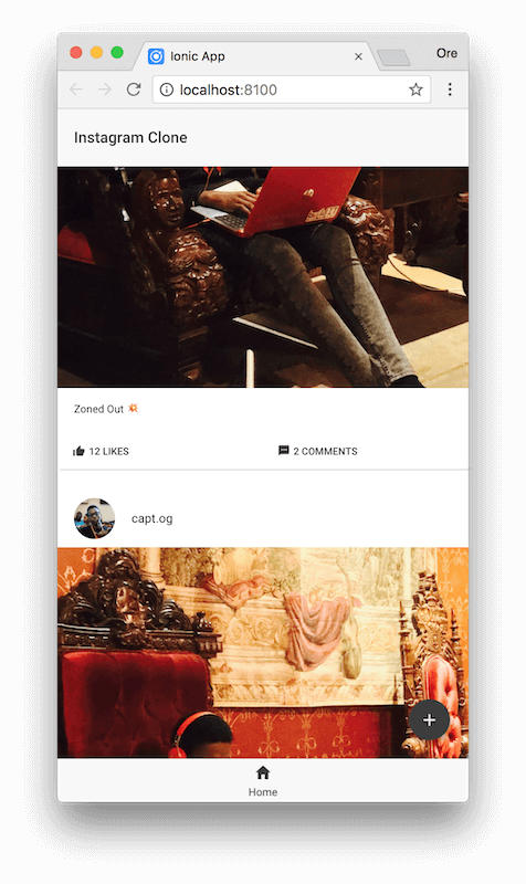 Build an Instagram clone with Ionic - Part 1