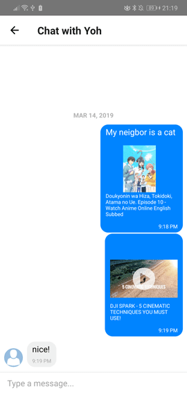 Add YouTube and link previews to your React Native chat app