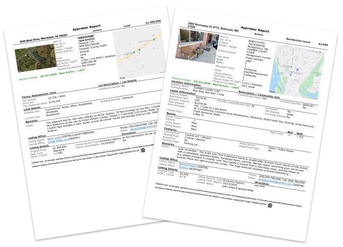 Appraiser Reports