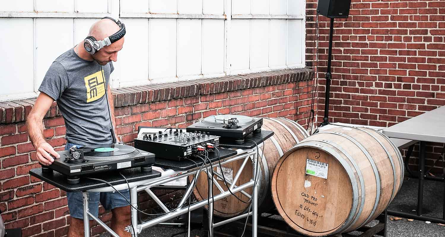 Tom Kraak kept the tunes going all night for ELM's guests at Union Craft Brewery.(Photo: John Waire)