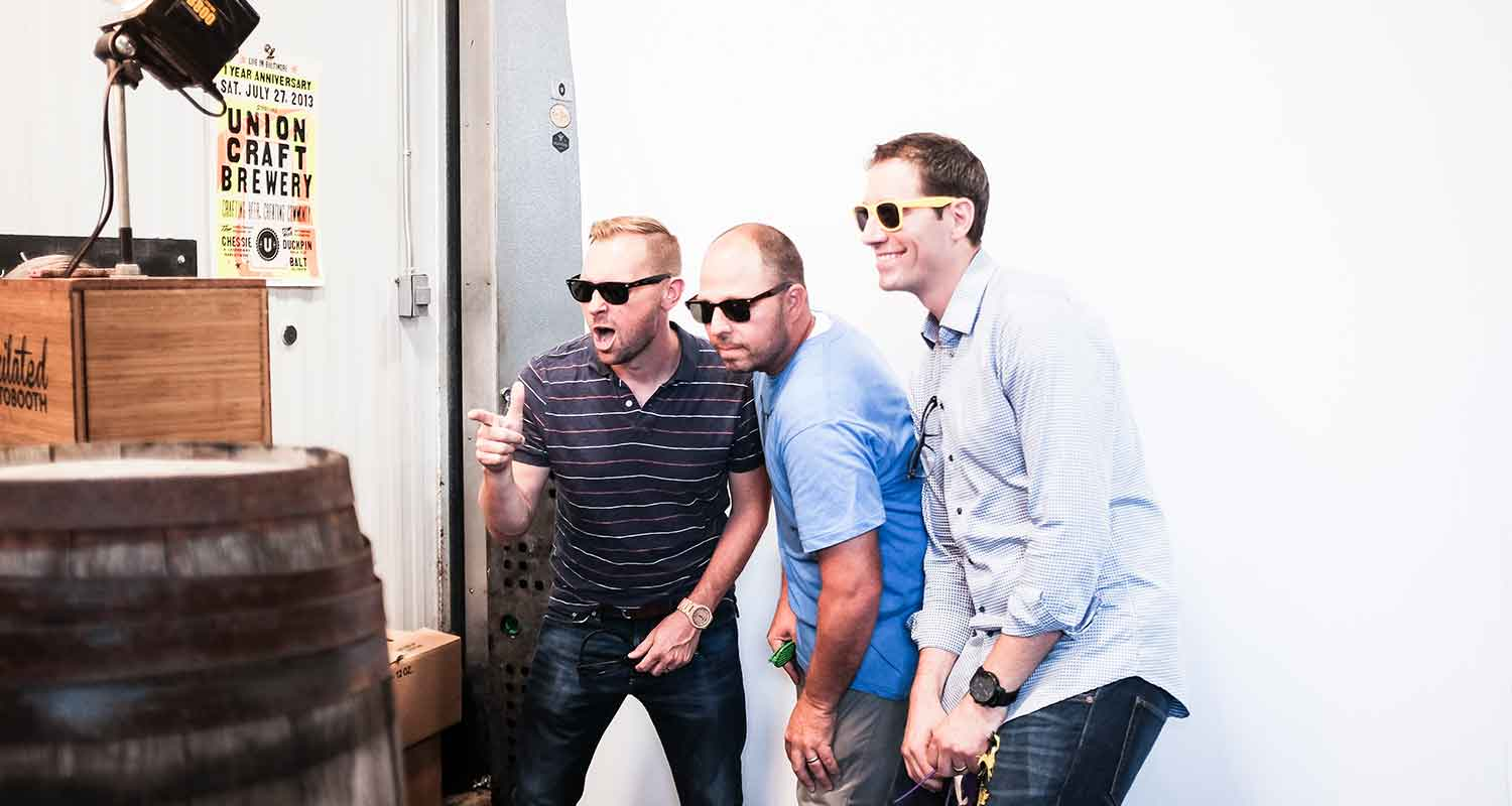 Dave, Jody and Darren getting weird in the Pixilated photo booth.(Photo: John Waire)