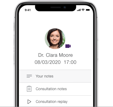 get prescription or referral preview on a mobile device