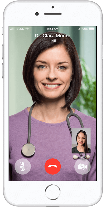 Step 2: A picture of a virtual consultation between a doctor and user
