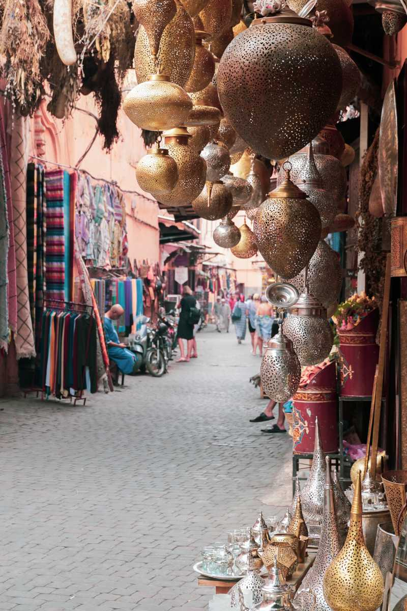 Souk in the medina of Marrakech