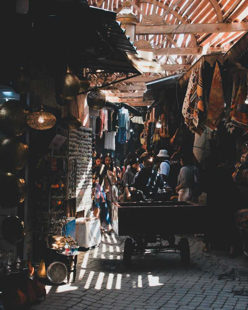 Confidential place in the souk of Marrakech