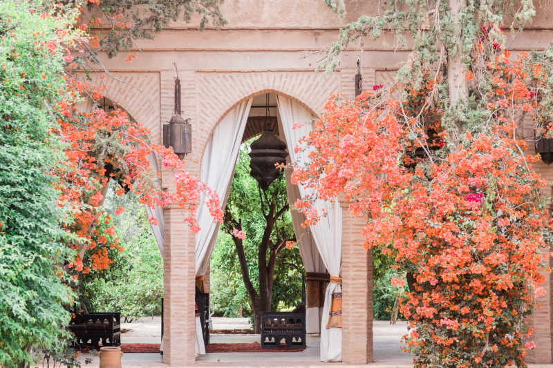 Beldi country club patio in Marrakech