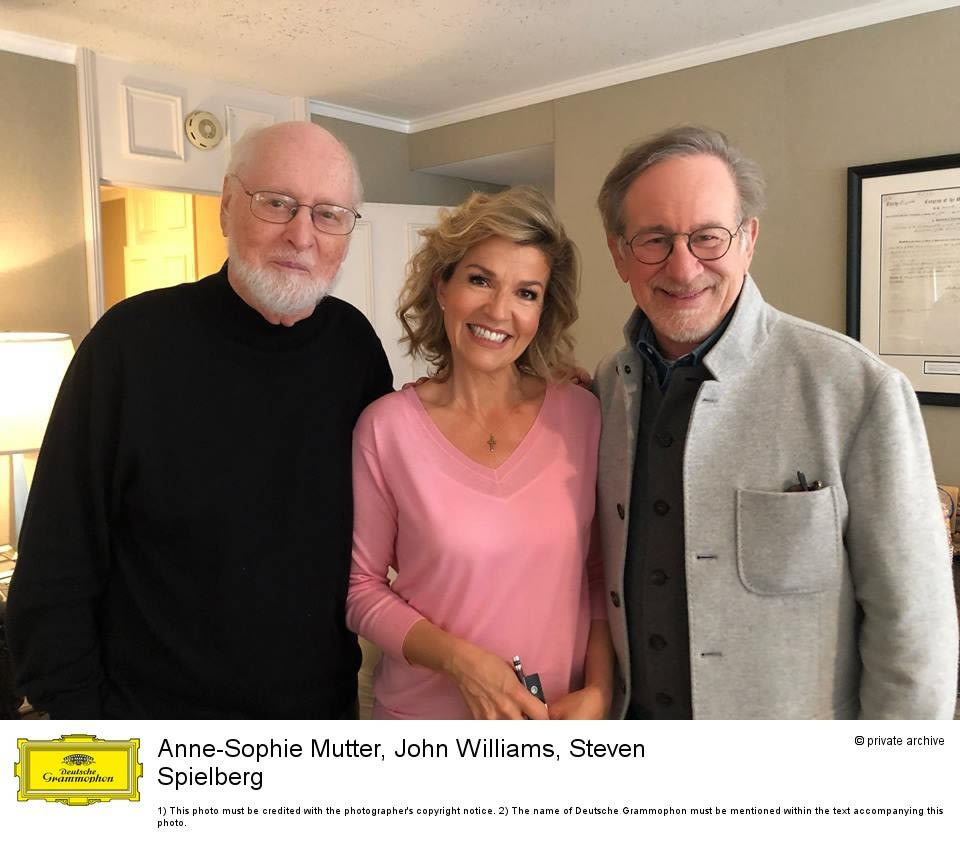 Anne-Sophie Mutter, John Williams, Steven Spielberg