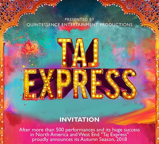 Taj Express: The Bollywood Musical Revue | 2018 Invitation