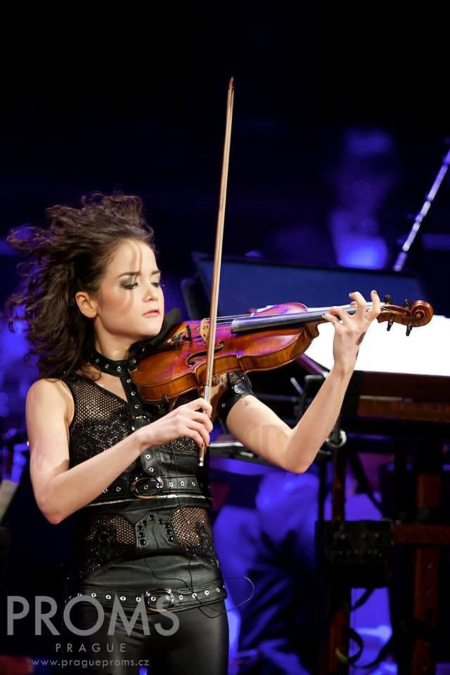 Prague Proms, World Premiere of Concerto: Sandy Cameron, Violin Soloist, Photo Credit: Jan Malý