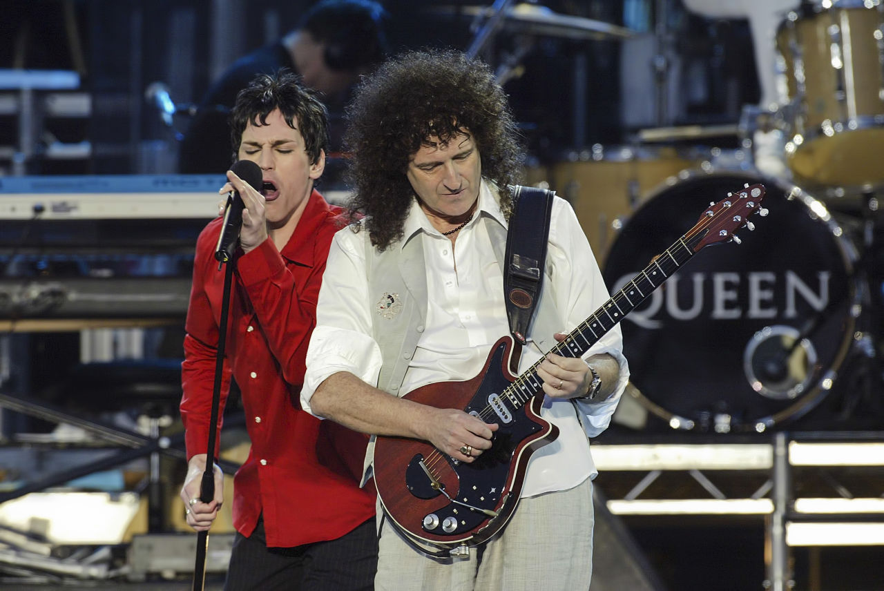 Tony Vincent with Queen's Brian May