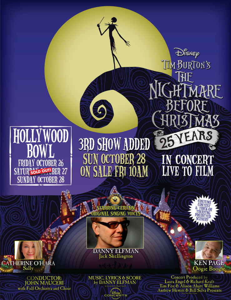 Tim Burton's The Nightmare Before Christmas In Concert Live to Film | Hollywood Bowl Poster