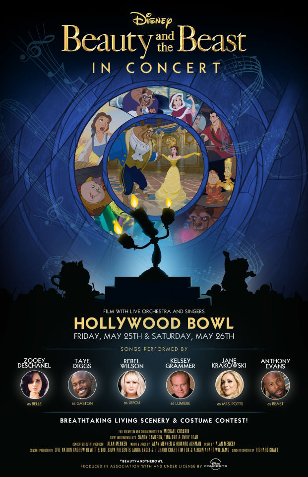 Beauty and the Beast at the Hollywood Bowl | Poster