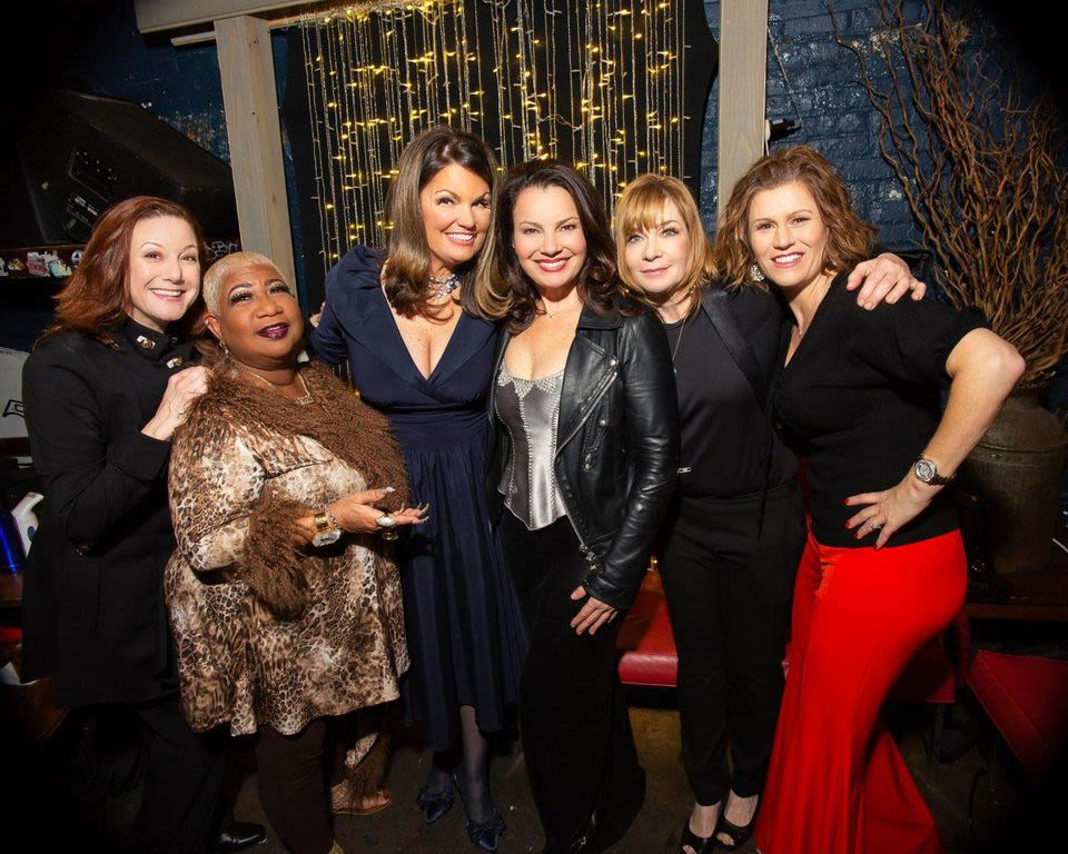 (From left) Carole Montgomery, Luenell, Lynne Koplitz, Fran Drescher, Vanessa Hollingshead and Kerri Louise in the Showtime® comedy special Funny Women of a Certain Age. (c) JENNI WALKOWIAK