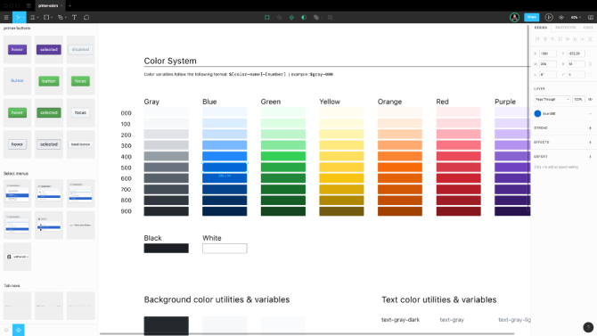 Github color system