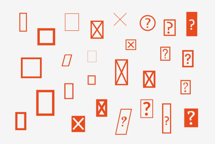 A gallery of .notdef characters from various fonts, looking like rectangles, rectangles crossed out, or rectangles with question marks.