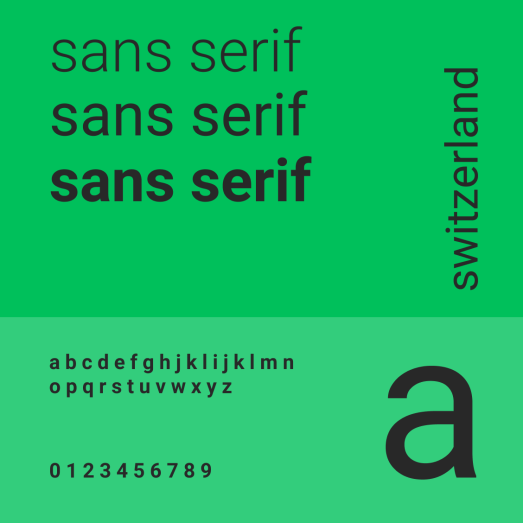 When to use serif