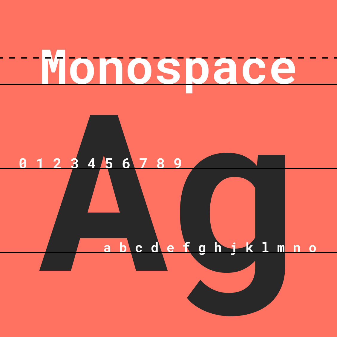 Other monospace users