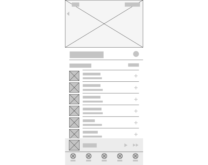 Apple Music Wireframe