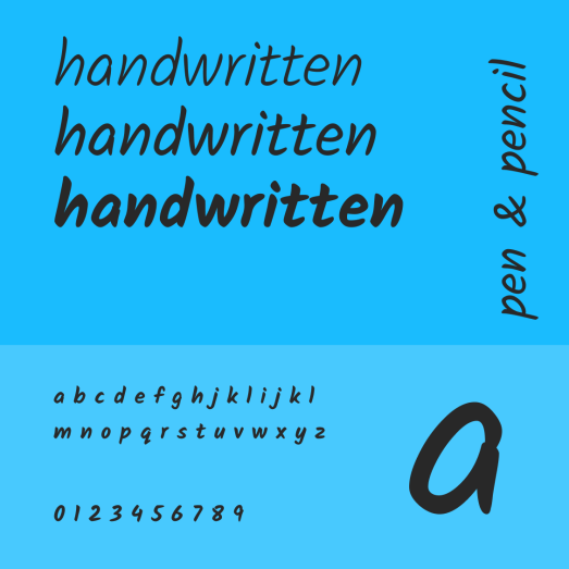 About handwriting fonts