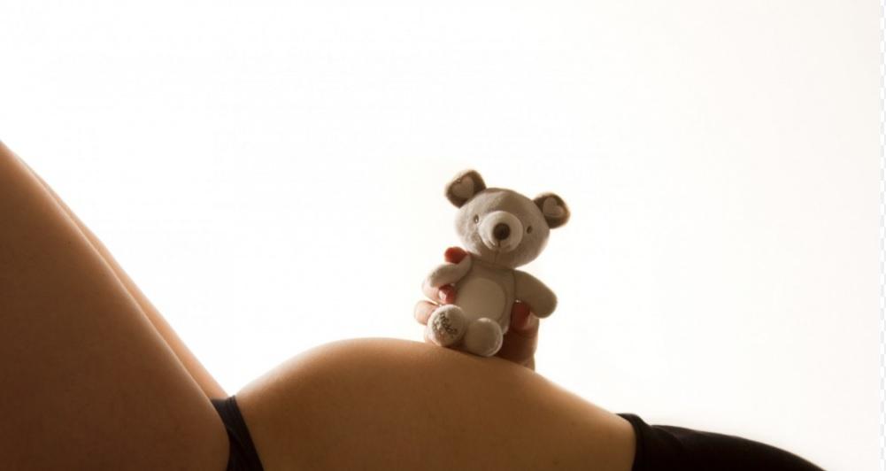 Ciąża i miś