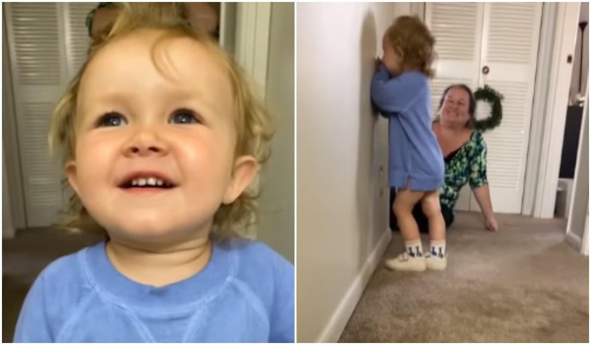 Dziewczynak reaguje na tatę bez brody