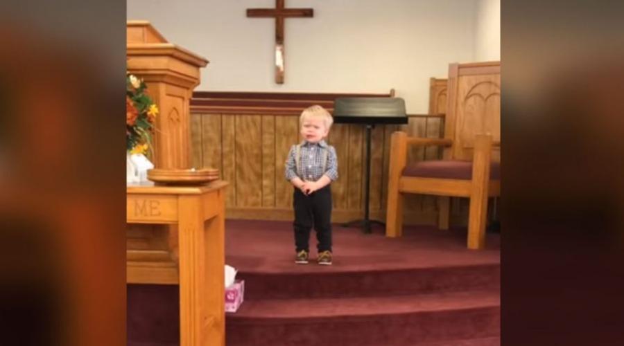 Syn w kościele
