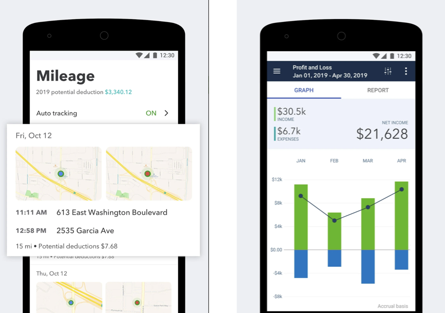 QuickBooks Android accounting app screenshot