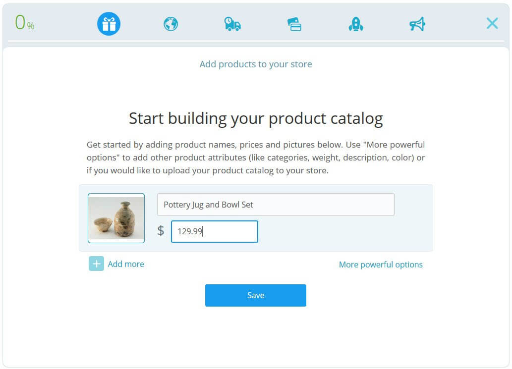 Creating a product catalog in Bookmark